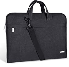 Voova Laptop Bag 17 17.3 inch Water-resistant Laptop Sleeve Case with Shoulder Straps & Handle/Notebook Computer Case Briefcase Compatible with MacBook/Acer/Asus/Hp,Black