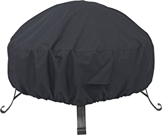 AmazonBasics Outdoor Round Patio Fire Pit Cover, 60 Inch, Black