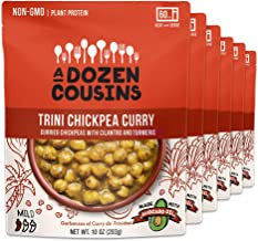 A Dozen Cousins Trini Chickpea Curry - Ready To Eat Beans, Vegan Food, Plant Protein for Meals, 10 Ounce (Pack of 6)