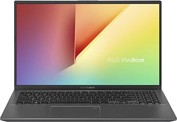 ASUS VivoBook 15 Thin and Laptop  15 6 quot  Full HD  AMD Quad Core R5-3500U CPU  8GB DDR4 RAM  128GB SSD 1TB HDD  AMD Radeon Vega Graphics Windows 10 Home F512DA-EB55 Slate Gray US Tastatur und Stecker