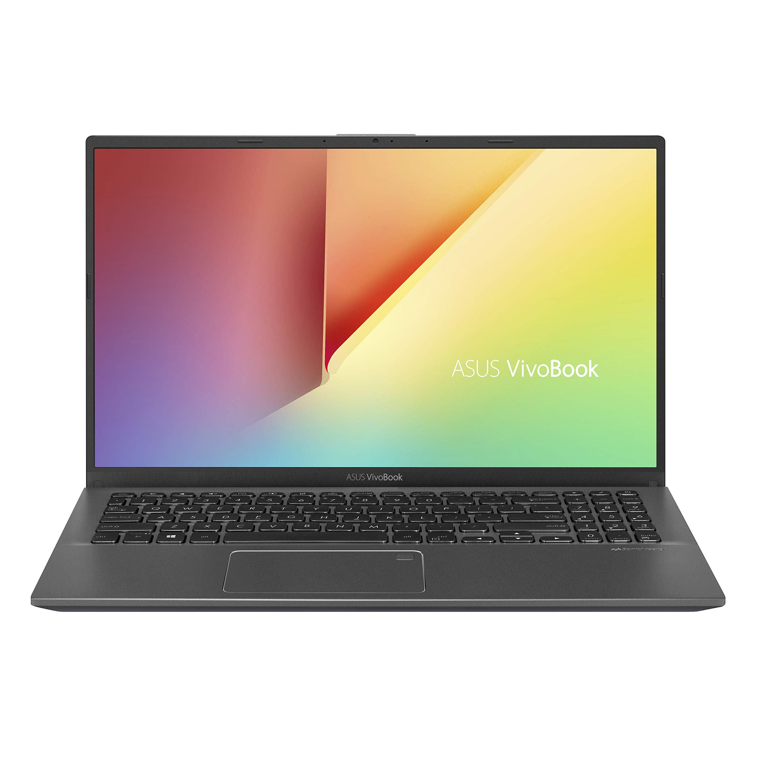 "ASUS VivoBook 15 Thin and Light Laptop, 15.6"" FHD Display, Intel i3-1005G1 CPU, 8GB RAM, 128GB SSD, Backlit Keyboard, Fingerprint, Windows 10 Home in S Mode, Slate Gray, F512JA-AS34"