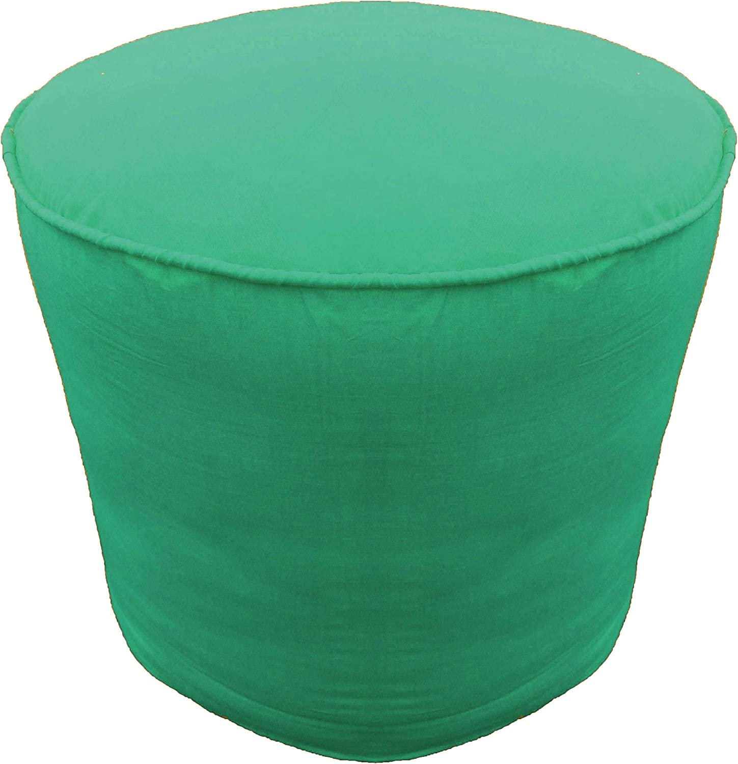 Footstool Round Pouffe Cover Cheap with Piping Ottoman Department store Te Cotton