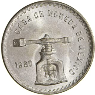 1980 MX Mexico 1 oz Silver Onza Balance Scale PESO Uncirculated Ungraded