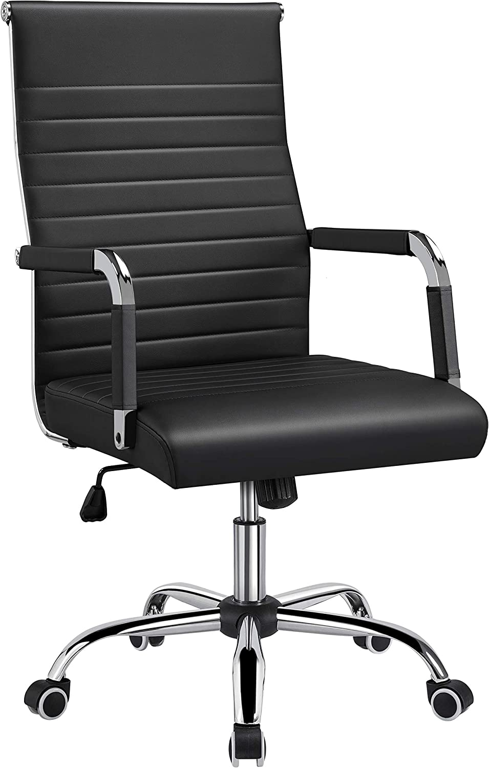 Yaheetech Office Desk Chair Ribbed Conference Executive Cha Task Jacksonville 2021 autumn and winter new Mall