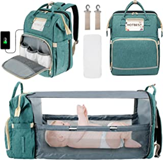 Newborn Essentials Stuff, Baby Travel Gear Necessities Clearance, Diaper Bag Backpack with Bed, Newborn Registry Baby Show...