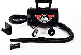 Metro Vac Air Force Express Super Powerful 4.0HP Compact, roll Around Wall mountable Car, SUV, Truck, RV, Boat, Motorcycle, Airplane Dryer with 12ft Hose and 25ft Cord