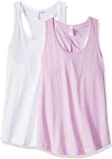 Clementine Apparel 2 Pack Ladies Activewear Running Workout Cotton Blend Clothes for Women