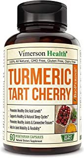 Turmeric Curcumin and Tart Cherry Extract Supplement. Celery Seed, and Bioperine. Polyphenols with Antioxidant Properties....