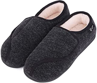 LongBay Women's Furry Memory Foam Diabetic Slippers Comfy Cozy Arthritis Edema H