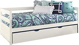 Hillsdale Furniture Hillsdale Caspian Daybed with Trundle, Twin, White