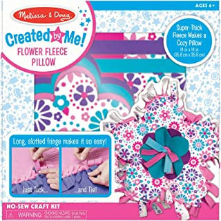 Melissa & Doug Created by Me! Flower Fleece Throw Pillow No-Sew Craft Kit, Great Gift for Girls and Boys - Best for 6, 7, 8 Year Olds and Up