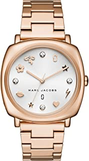 white gold marc jacobs watch