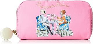LeSportsac Les Secrets Laduree Time For Tea Rectangular Cosmetic Bag, Macaron Zip Pull, Style 6511/Color G608
