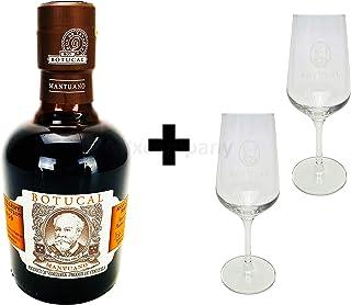 Botucal Mantuano Ron Extra Anejo 0,35l 40% Vol mit 2 Botucal Nosing Gläser Ron de Venezuela Glas Longdrinkgläser- Enthält Sulfite