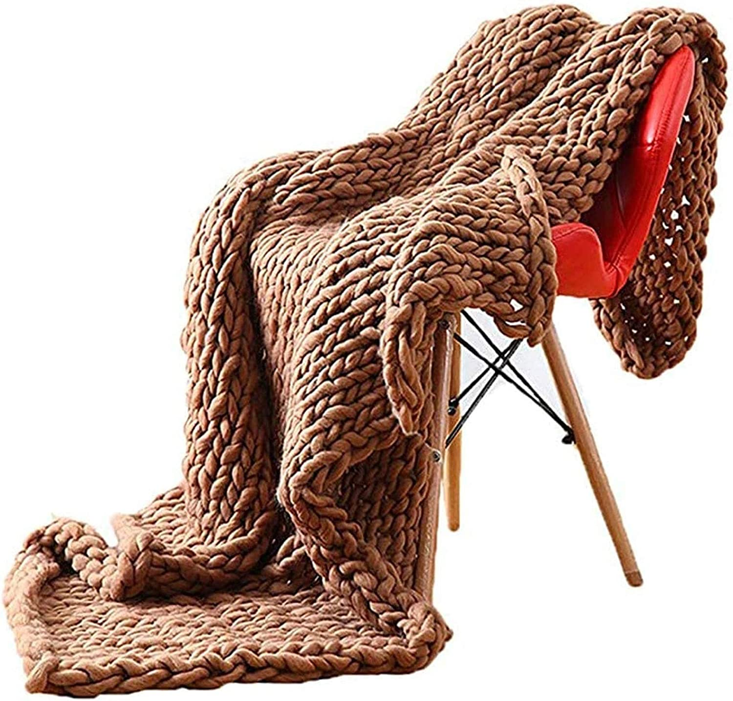 YXYH Max 75% OFF 2021 spring and summer new Handmade Chunky Knit Blanket Thr Bulky Large Thick Knitting