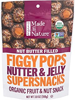 MADE IN NATURE Organic Nutter & Jelly Figgy Pops, 3.8 OZ