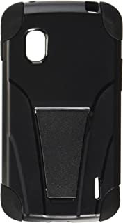 Reiko - Silicone Case Plus Protector Cover for LG GOOGLE NEXUS 4 E960 - Black