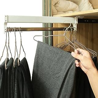a-inger Extendable Closet Valet Rod Retractable Pants Rack AINGER(13.7 inches)