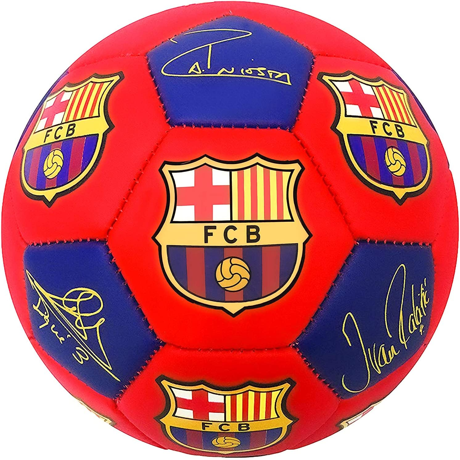 UniFan Barcelona Mail order Ball Oklahoma City Mall Size wit Soccer 5 Licensed