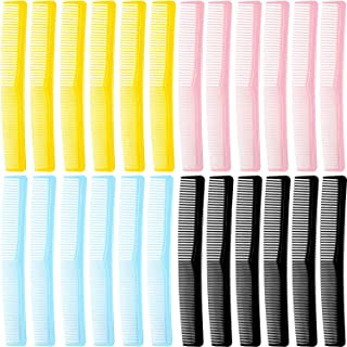 24 Pieces Colorful All Purpose Hair Comb 7 Inch Hair Cutting Comb Hairdressing Comb for Men Women Hair Styling Supplies