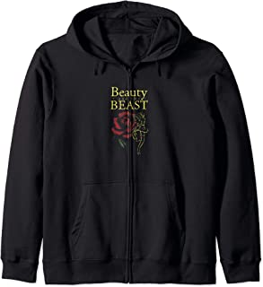 Disney Beauty & The Beast Belle Gold Outline With Rose Sweat à Capuche