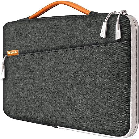 "JETech Funda Portátil Impermeable Compatible 13,3"" Notebook Tableta iPad Tab con asa Portátil, Sleeve Compatible MacBook Pro 13"", MacBook Air, Surface Pro 12.3"", Surface Laptop 2017/2018 (Gris Oscuro)"