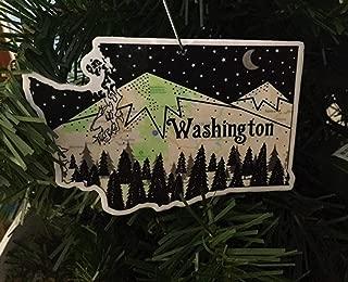 Washington Christmas Ornament, Washington Ornament, Washington
