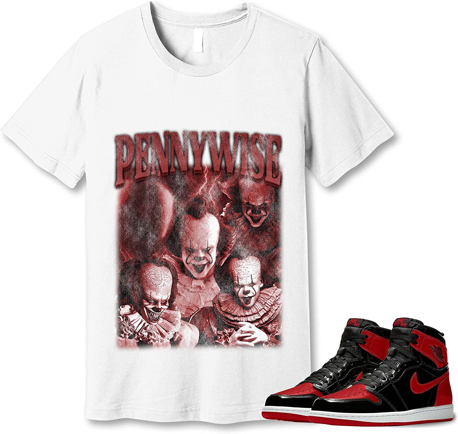 #Pennywise Patent Financial sales sale Leather T-Shirt to Match 1 Jordan Sneak Banned price