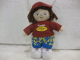 Dolls 7 Inch Bean Bag Campbell's Kids The Alphabet Soup Brunette Little Girl