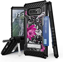 BC TriShield Compatible with Samsung Galaxy Note 8 Case Military Grade Drop Tested Cover - (Lotus Flower)