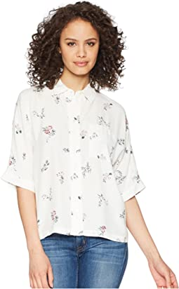 Delicate Floral Ditsy Button Down Dolman Blouse