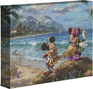 Thomas Kinkade Studios Disney's Mickey and Minnie in Hawaii 8 x 10 Gallery Wrapped Canvas