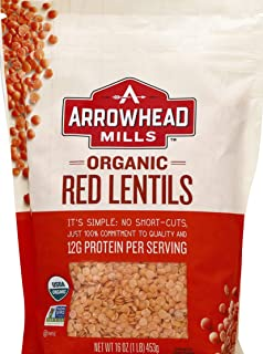Arrowhead Mills Organic Red Lentils, 16 Ounce Bag