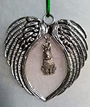 Bunny Memorial with Angel Wings Ornament