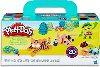 Hasbro A7924 Play-Doh Super Colour Pack inc 20 Tubs of Dough- sensory and educational craft toys for kids, boys, girls- Ag...