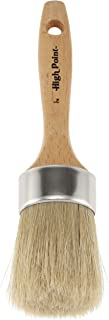 Large 2-in-1 Round Chalk & Wax Finishing Brush All Natural Hog Bristles Ergonomic Handle Stencil & Pouncer Paintbrush for DIY Furniture, Hobby Paint, Faux & Wax Finishing, Stenciling [2