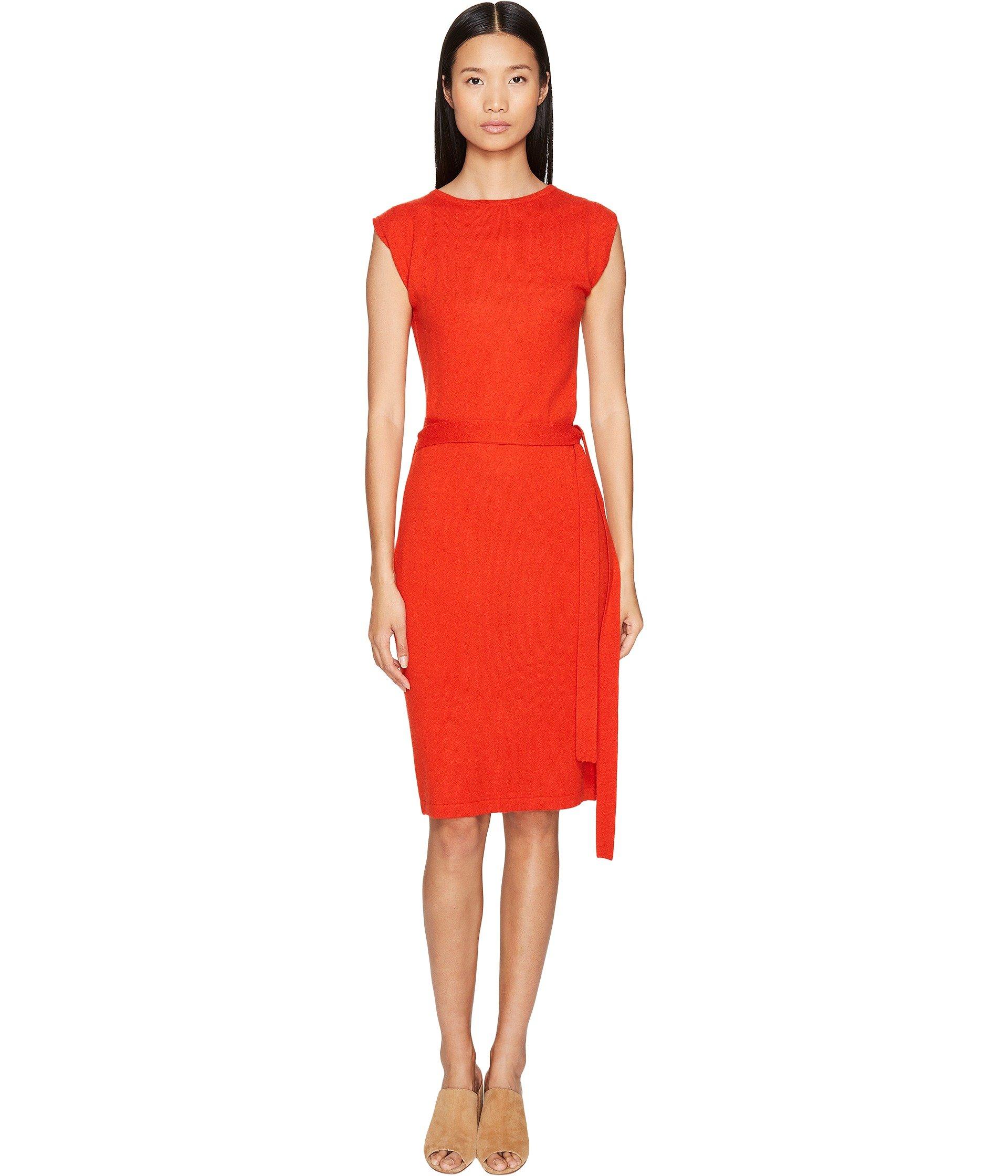 Colette Wrapped Envelope Dress, Poppy Red