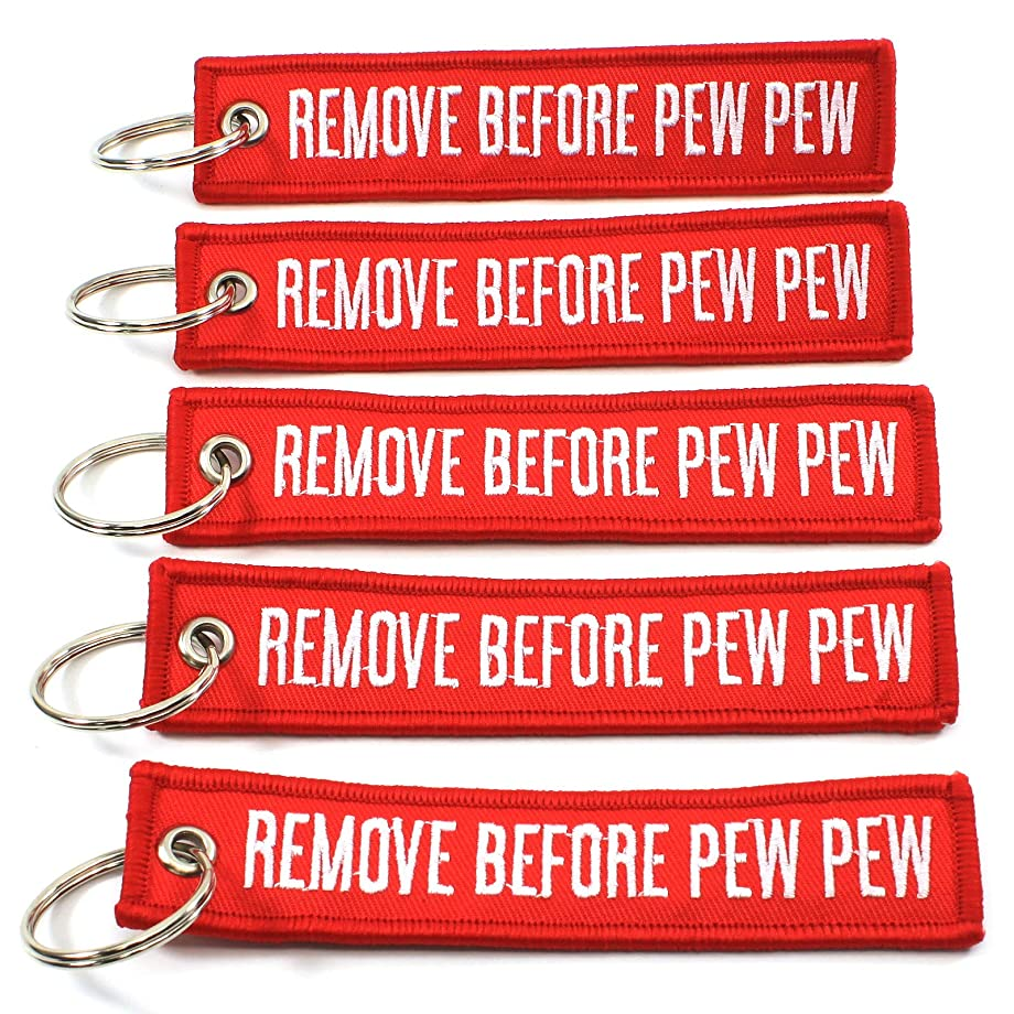 Rotary13B1 Remove Before PEW PEW - 5 Pack Key Chains - Sale!