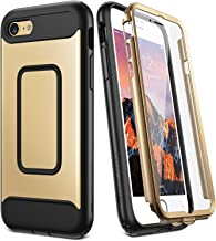 YOUMAKER Case for iPhone 8 & iPhone 7, Full Body with Built-in Screen Protector Heavy Duty Protection Shockproof Slim Fit Cover for Apple iPhone 8 (2017) / iPhone 7 (2016) 4.7 Inch - Gold