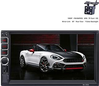 LSLYA Radio de Coche 2din Bluetooth 7 Pulgadas MP5 HD Pantalla táctil Reproductor Soporte Espejo Enlace cámara Trasera 7 Colores luz de Fondo FM/Am/RDS/TF Tarjeta/USB/AUX IN