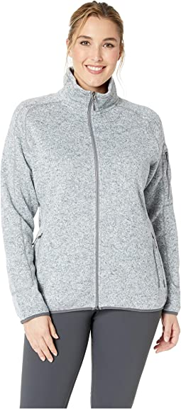 Plus Size Sweater Fleece Full Zip Jacket