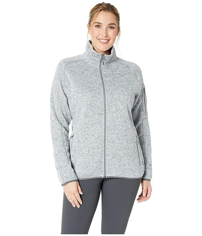 White Sierra Plus Size Sweater Fleece Full Zip Jacket (Heather Gray) Women