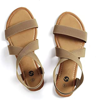 Flat Elastic Sandals for Women