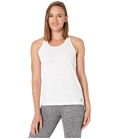 New Balance Q Speed Breathe Tank (White) Women