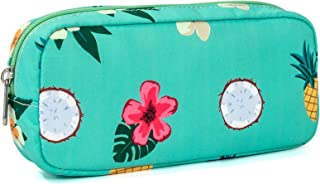 Leaper Pineapple Pen Pencil Case Coin Purse Pouch Cosmetic Makeup Bag Water Blue
