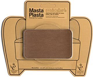 MastaPlasta Tan Self-Adhesive Leather Repair Patches. Choose Size/Design. First-Aid for Sofas, Car Seats, Handbags, Jackets etc