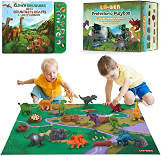 """Li'l-Gen Dinosaur Toys for Boys and Girls 3 Years Old & Up - Realistic Looking 7"""" Dinosaurs, Pack of 12 Animal Dinosaur Fi..."""