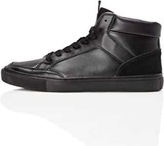 Marchio Amazon - find. Sneaker a Collo Alto in Pelle Uomo