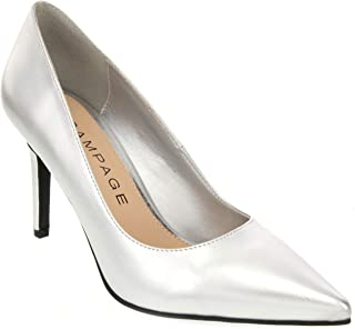 Rampage Women's Fabre Heel Pointed Toe Pump Dress Shoe Sandal