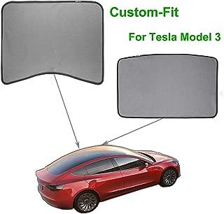 WeDoi Model 3 Car Sunshade, Sunroof and Rear Window Shade for Tesla Model 3, Foldable Mesh Sun Shade 2 Pack